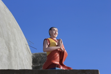 Sculpture of a Buddhist monk photo