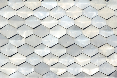 texture of metal tiles photo