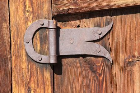 hinge: Forged old door hinge