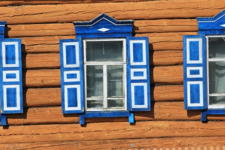 rustic window with shutters photo