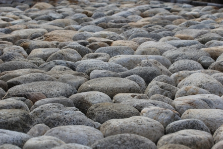 the surface of the circular natural stones photo