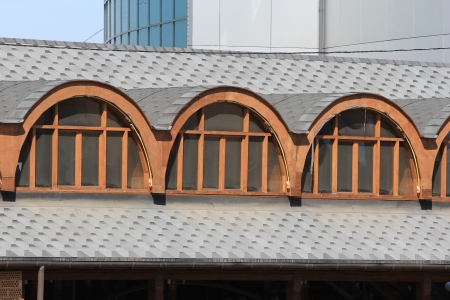 arched window on the roof photo