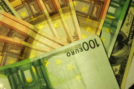 international crisis: Euro hundred note texture Stock Photo