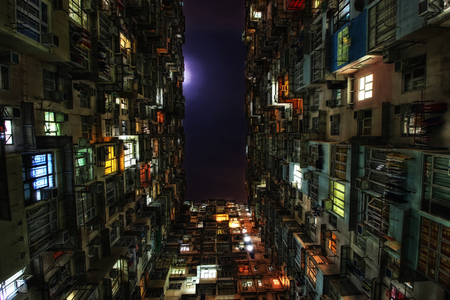 montane: A view into the backyard of Montane Mansion in Hong Kong