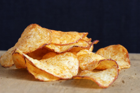 Potato crisps seasoned with paprika