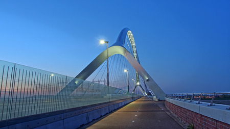 Arch bridge near Nijmegen, The Netherlands Stok Fotoğraf