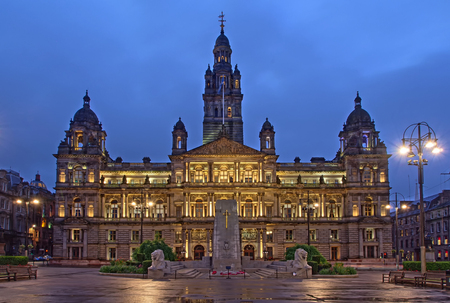 chambers: The City Chambers building on St. George Square in Glasgow, Scotland. Editorial