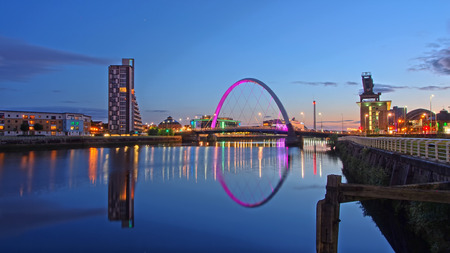 Bridges across the river Clyde in Glasgow
