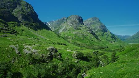 glencoe: Glencoe mountains in Scotland Stock Photo