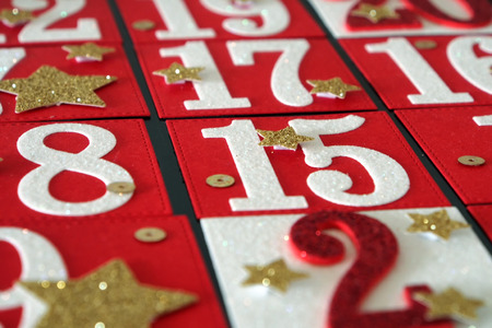 Self Made advent calendar Stock Photo