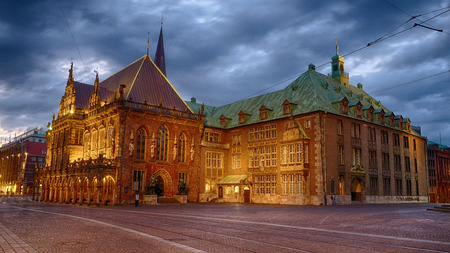 The historical city hall of Bremen in Germany