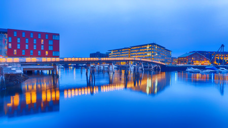 Bridge in Trondheim in Norway