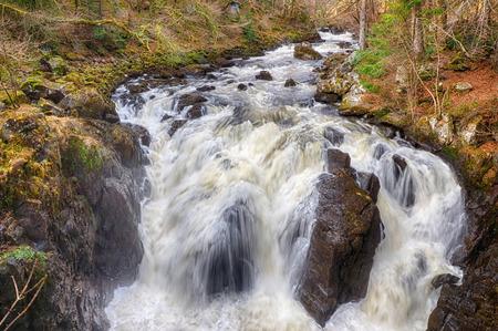 Black Linn Falls in Perthshire, Scotland