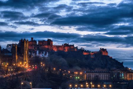 Castle in Edinburgh in Scotland Banque d'images