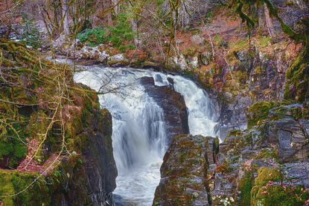 Waterfall in the Scottish Highlands