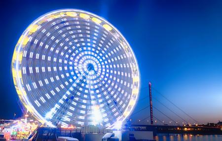 Ferris wheel at the spring fun fair in Duesseldorf