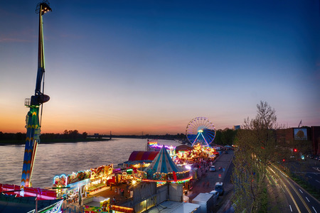 Spring fun fair in Duesseldorf