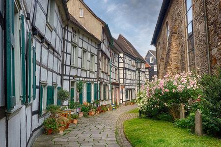 Historical half timber houses in Hattingen, Germany