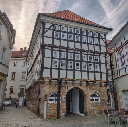 Historical half timber house in Hattingen in Germany