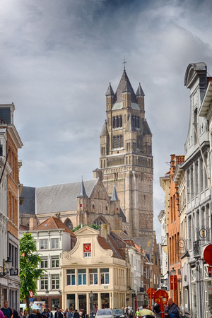 Historical cathedral in Bruges in Belgium