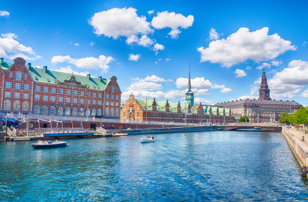 Historical canal in the center of Copenhagen