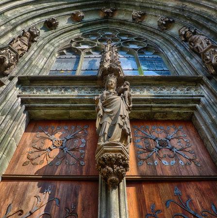 Church portal in Soest in Germany