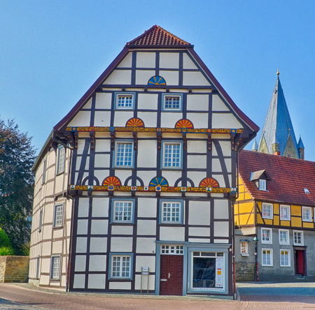 Half-timber house in the historical center of Soest in Germany Editorial