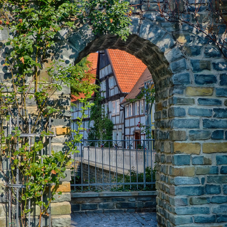 Historical Loersbach district in Soest, Germany