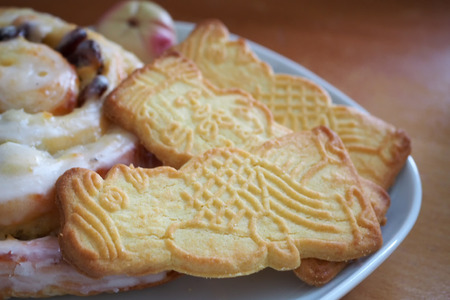 Traditional christmas almond biscuits Stock Photo