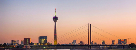 Panoramic view at the skyline of Duesseldorf
