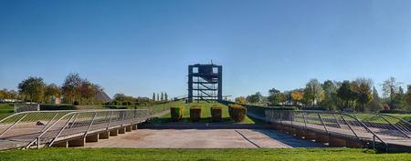 Public park in Oberhausen, Germany