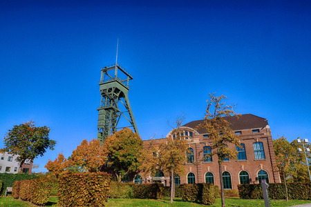 Historical coal mine buildings in Oberhausen, Germany Stock Photo