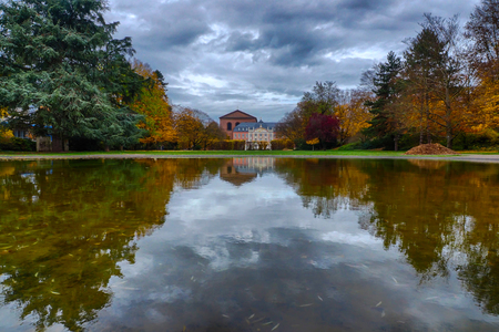 Autumn in a palace garden in Treves