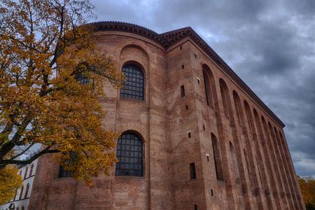 Historical basilica in Treves Stock Photo