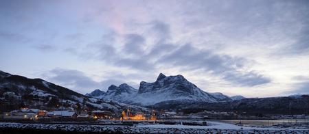 Sunrise in Ornes in Norway