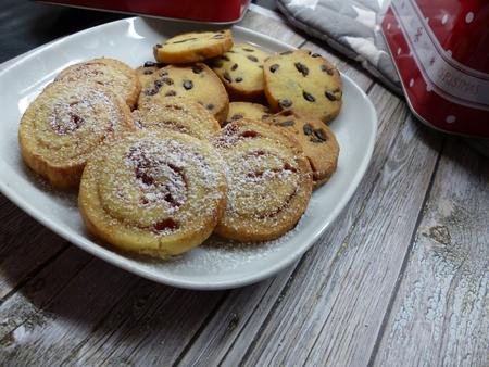 Homemade cookies for christmas Stock Photo