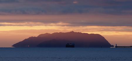 Sunset near Alesund in Norway Stock Photo