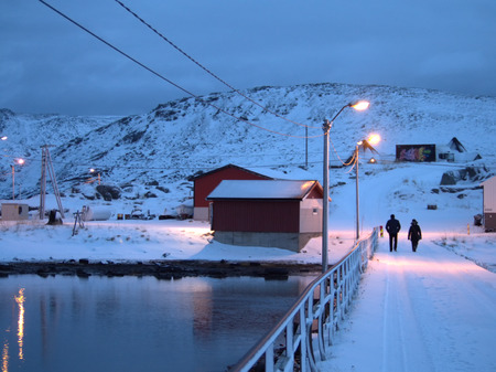 Skarsvag, the worlds northernmost fishing village in the region of Finnmark in Norway