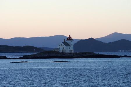 Old lighthouse on the Norwegian coast