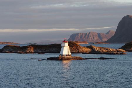 Light beacon on the Norwegian coast
