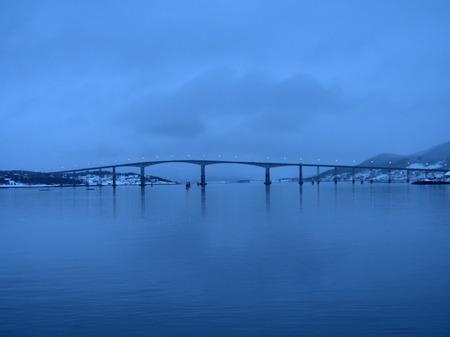 Gisundbrua bridge in Finnsnes in Norway