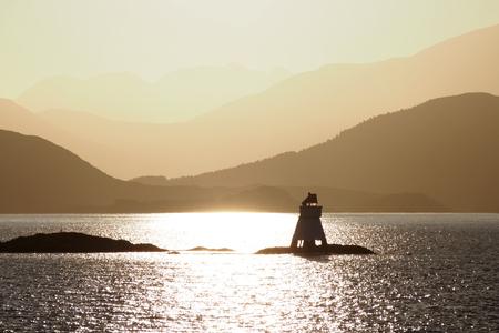 Morning light over the Norwegian coast