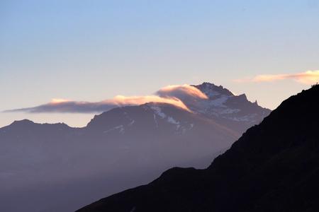 Norwegian mountain landscape in winter