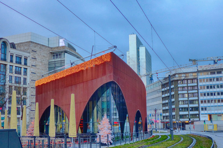New center of Duesseldorf in Germany Stock Photo