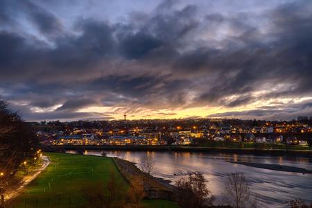 Sunrise over Trondheim in Norway