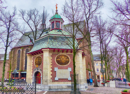 Two chapels in the historical center of Kevelaer Stock Photo