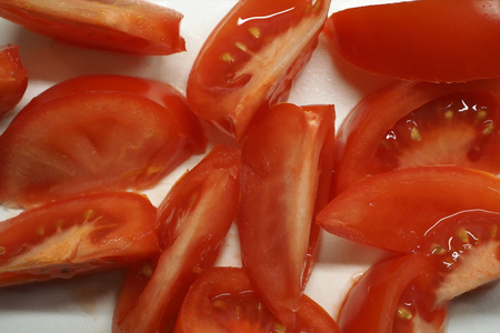 Tomatoes cut in wedges