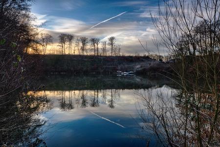 Blue lake near Ratingen