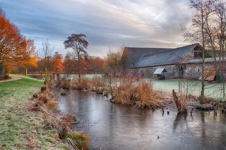 Winter landscape in Ratingen in Germany