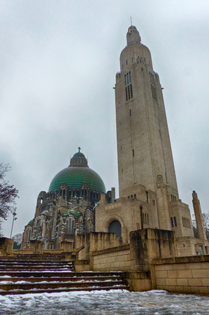 Historical church and monument in Liege in Belgium